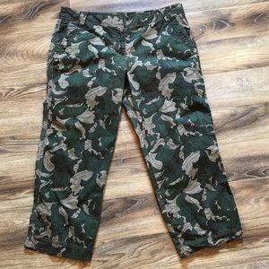 Ann Taylor Loft Crop Camouflage Marisa Pants 14